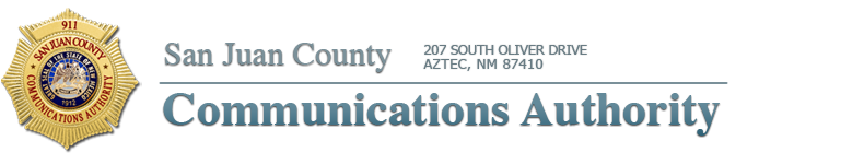 San Juan County Communications Authority. 207 South Oliver Drive Aztec, NM 87410